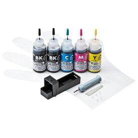 サンワサプライ SANWA SUPPLY INK-C350S30S5 詰め替えインク 5色[INKC350S30S5]【wtcomo】