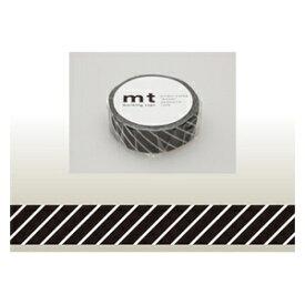 カモ井加工紙 KAMOI mt マスキングテープ(ストライプ・ブラック) MT01D153