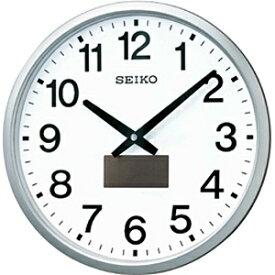セイコー SEIKO 掛け時計 【ハイブリッドソーラー】 銀色メタリック SF242S [電波自動受信機能有]