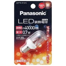 パナソニック Panasonic LDT1L-E12/C LED装飾電球 クリア [E12 /電球色 /1個][LDT1LE12C]