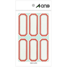 エーワン A-one セルフ角ペーパー 小サイズ 赤 05001 [18シート /6面 /マット]【rb_mmmg】