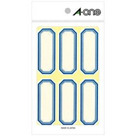 エーワン A-one セルフ角ペーパー 小サイズ 青 05002 [18シート /6面 /マット]【aoneC2009】