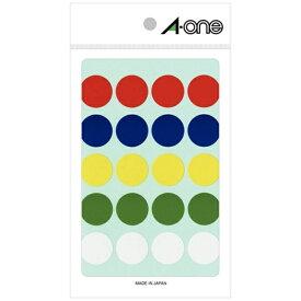 エーワン A-one カラーラベル 5色アソート 07054 [11シート /20面 /光沢]【aoneC2009】