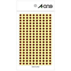 エーワン A-one カラーラベル 茶 07067 [9シート /200面 /光沢]【aoneC2009】