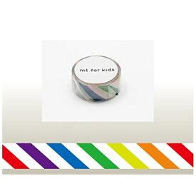 カモ井加工紙 KAMOI mt for kids マスキングテープ(カラフル・ストライプ) MT01KID001