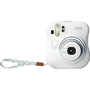富士フイルム FUJIFILM インスタントカメラ instax mini 25 『チェキ』 ホワイト 純正ハンドストラップ付き[INSMINI25WTN]
