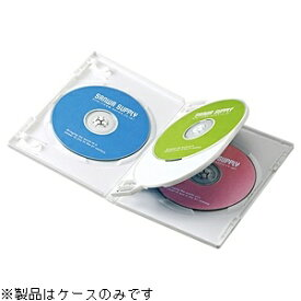 サンワサプライ SANWA SUPPLY Blu-ray/DVD/CD対応トールケース 4枚収納×3 ホワイト DVD-TN4-03W[DVDTN403W]