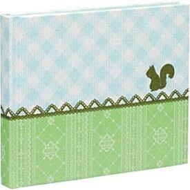 ナカバヤシ Nakabayashi テイスティ ブック式フリーアルバム ミニサイズ チェックレース(グリーン) アH-MB-121G-G[アHMB121GG]