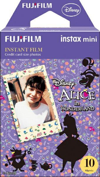 富士フイルム FUJIFILM チェキ インスタントカラーフィルム instax mini 絵柄入りフレーム 「ふしぎの国のアリス」 1パック(10枚入)