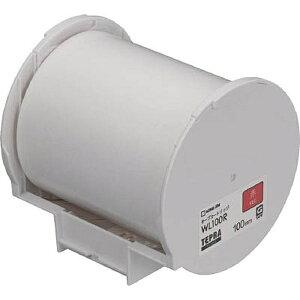 テプラ Grandテープカートリッジ 赤ラベル WL100R [100mm×15m]