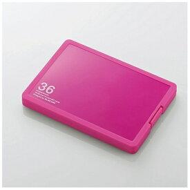 エレコム ELECOM SD/microSDメモリカードケース[プラスチックタイプ] SD 18枚+microSD 18枚 ピンク CMC-SDCPP36PN[CMCSDCPP36PN]