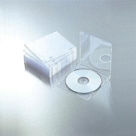 エレコム ELECOM CD/DVD/Blu-ray対応スリムケース 1枚収納×10 クリア CCD-JSCS10CR[201603P ]