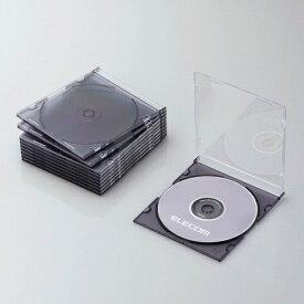 エレコム ELECOM CD/DVD/Blu-ray対応スリムケース 1枚収納×10 クリアブラック CCD-JSCS10CBK[CCDJSCS10CBK]