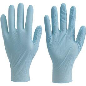 トラスコ中山 使い捨て極薄手袋ニトリル製粉無し100枚入Lブルー TGL726NL