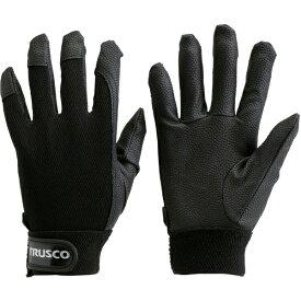 トラスコ中山 PU厚手手袋 Lサイズ ブラック TPUGBL