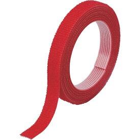 トラスコ中山 マジックバンド結束テープ 両面 幅10mmX長さ1.5m 赤 MKT1015R