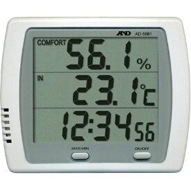 A&D エー・アンド・デイ 時計付き温湿度計 AD5681