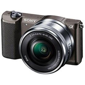 ソニー SONY ILCE-5100L-T ミラーレス一眼カメラ パワーズームレンズキット α5100 ブラウン [ズームレンズ][ILCE5100LT]