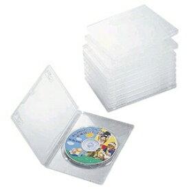 エレコム ELECOM DVDトールケース 1枚組収納×10 クリア CCD-DVD03CR[CCDDVD03CR]【rb_pcp】
