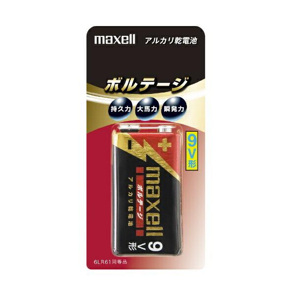 マクセル Maxell 【9V形】 1本 アルカリ乾電池「ボルテージ」 6LF22(T) 1B