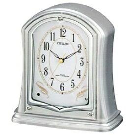 リズム時計 RHYTHM 置き時計 【パルドリームR694】 シルバーメタリック 4RY694-019 [電波自動受信機能有][4RY694019]