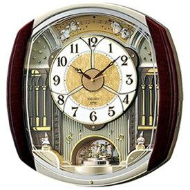 セイコー SEIKO からくり時計 【ウェーブシンフォニー】 濃茶マーブル模様 RE564H [電波自動受信機能有]
