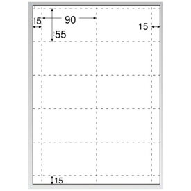 ヒサゴ HISAGO 〔インクジェット〕 名刺・カード 光沢&マット 100枚 (A4サイズ 10面×100シート・ホワイト) CJ602[CJ602]