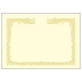 ササガワ SASAGAWA OA賞状用紙 雲なし 縦書き用 (B4・100枚) クリーム 10-1477[101477]
