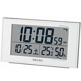セイコー SEIKO 電波目覚まし時計 SQ758W [デジタル /電波自動受信機能有][SQ758W]