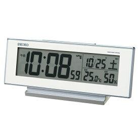 セイコー SEIKO 目覚まし時計 白 SQ762W [デジタル /電波自動受信機能有][SQ762W]