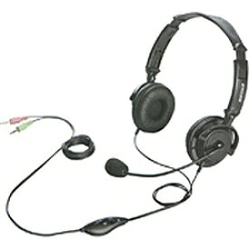 BUFFALO バッファロー BSHSH12BK ヘッドセット ブラック [φ3.5mmミニプラグ /両耳 /ヘッドバンドタイプ][BSHSH12BK]