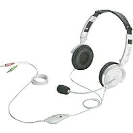 BUFFALO バッファロー BSHSH12WH ヘッドセット ホワイト [φ3.5mmミニプラグ /両耳 /ヘッドバンドタイプ]