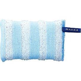 マーナ MARNA キラキラボーダースポンジ K228B ブルー〔たわし・スポンジ〕[K228B]