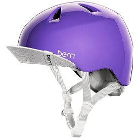 BERN バーン 子供用ヘルメット NINA ALL SEASON (Gloss Purple/ S-Mサイズ:51.5〜54.5cm) BE-VJGGPUV-12