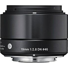 シグマ SIGMA カメラレンズ 19mm F2.8 DN【マイクロフォーサーズマウント】(ブラック)[192.8DNブラック]