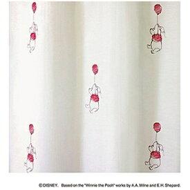 スミノエ SUMINOE レースカーテン プー/フロート(100×198cm/レッド)【日本製】[生産完了品 在庫限り][M1076100X198]