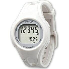 山佐時計計器 YAMASA 歩数計 ウォッチ万歩計WATCHMANPO ホワイト×シルバー TM-400-WS [手首式][TM400WS]