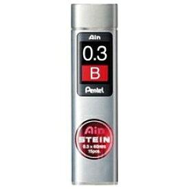 ぺんてる Pentel [シャープ替芯] Ain 替芯 シュタイン (硬度:B、芯径:0.3mm、15本入り) C273-B[C273B]