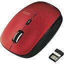エレコム ワイヤレスBlueLEDマウス[2.4GHz・USB] (5ボタン・レッド) M-BL21DBRD[MBL21DBRD]