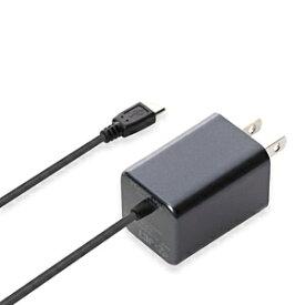 PGA [micro USB]ケーブル一体型AC充電器 2A (1.5m・ガンメタル)PG-2ACMU06GM