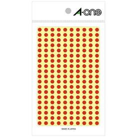 エーワン A-one カラーラベル 赤 07061 [9シート /200面 /光沢]【aoneC2009】