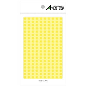 エーワン A-one カラーラベル 黄 07064 [9シート /200面 /光沢]【rb_mmmg】