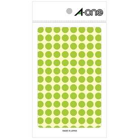 エーワン A-one カラーラベル 特殊ラベル 蛍光緑 08172 [4シート /104面]【aoneC2009】