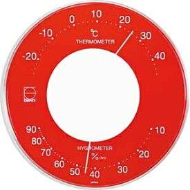 エンペックス EMPEX INSTRUMENTS LV-4355 温湿度計 Livi(リビ) レッド [アナログ][LV4355]