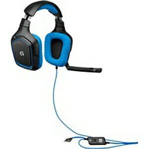【送料無料】 ロジクール ヘッドセット[φ3.5ミニ] Logocool Surround Sound Gaming Headset G430(ブラック・ブルー) G430