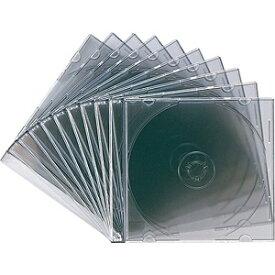 サンワサプライ SANWA SUPPLY Blu-ray/DVD/CD対応スリム収納ケース 1枚収納×10 クリアブラック FCD-PU10BK[FCDPU10BK]