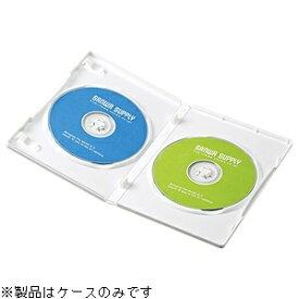 サンワサプライ SANWA SUPPLY Blu-ray/DVD/CD対応トールケース 2枚収納×10 ホワイト DVD-TN2-10W[DVDTN210W]