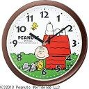 リズム時計 掛け時計 「スヌーピー」 4KG712MA06