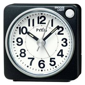 セイコー SEIKO 目覚まし時計 PYXIS 黒メタリック NR437K [アナログ][NR437K]