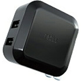 ラディウス radius スマホ用USB充電コンセントアダプタ2.4A ブラック RK-ADA02K [2ポート][RKADA02K]